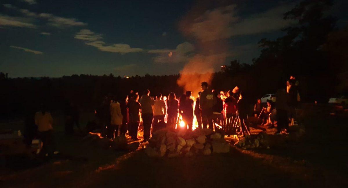 bonfire at Toah Nipi